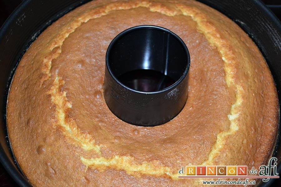 Bizcocho sin aceite ni mantequilla, hornear hasta que esté hecho