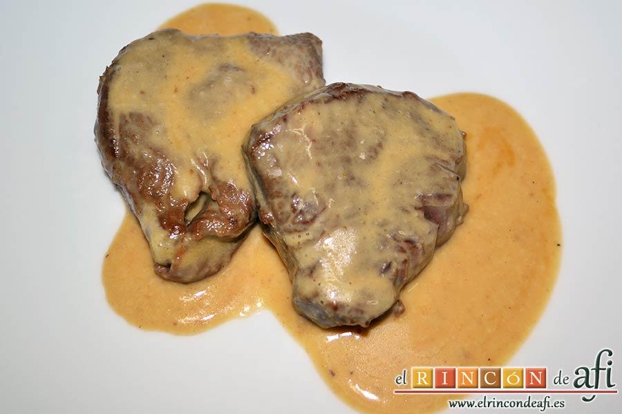 Solomillo de ternera con salsa de mostaza y miel - Solomillo de ternera al horno con mostaza ...