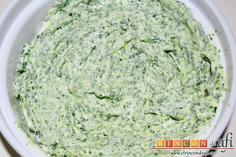 Crema de berros con queso, tomate y aguacate para untar en sandwiches, hemos de conseguir una crema fácil de untar
