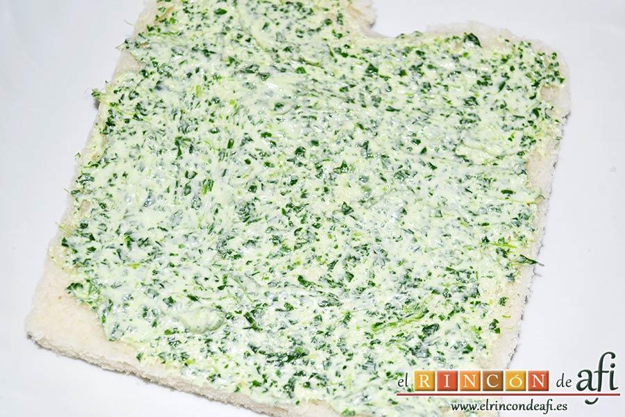 Crema de berros con queso, tomate y aguacate para untar en sandwiches, untar el pan que vayamos a usar