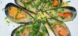 Mejillones con salsa de mostaza