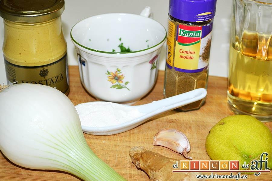 Mejillones con salsa de mostaza, preparar los ingredientes