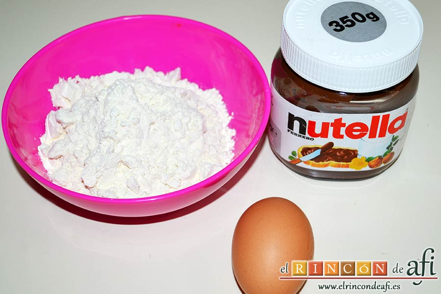 Nutellotti o galletas de Nutella, preparar los ingredientes
