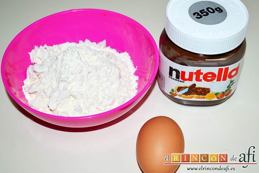 Nutellotti o galletas de Nutella, preparar los ingredientes