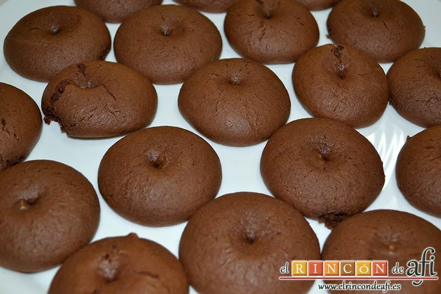 Nutellotti o galletas de Nutella, dejamos enfriar una vez horneadas