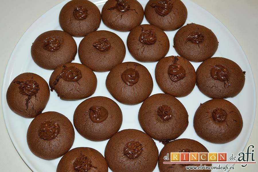 Nutellotti o galletas de Nutella, sugerencia de presentación