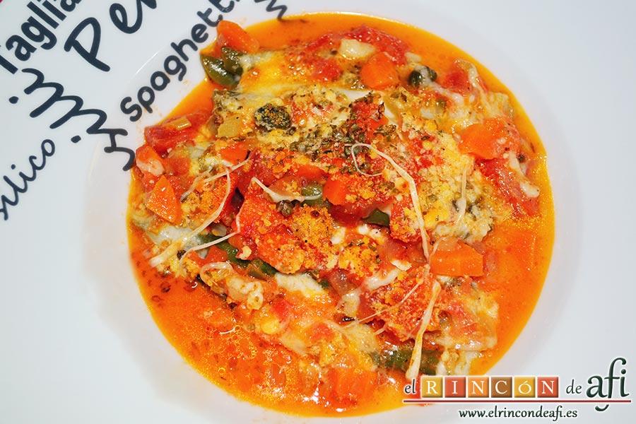 Lasaña de verduras con mozzarella fresca