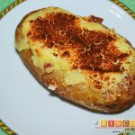 Papas rellenas de jamón y queso