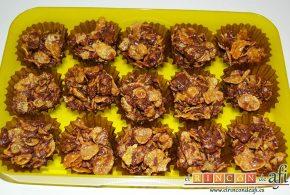 Crujientes de copos de maíz y chocolate