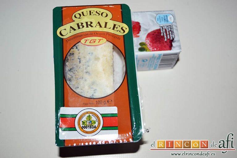 Solomillo de ternera con salsa de Cabrales, preparamos el queso de Cabrales y la nata