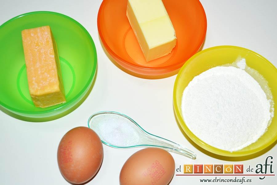 Pastelillo de Elvira, preparar los ingredientes