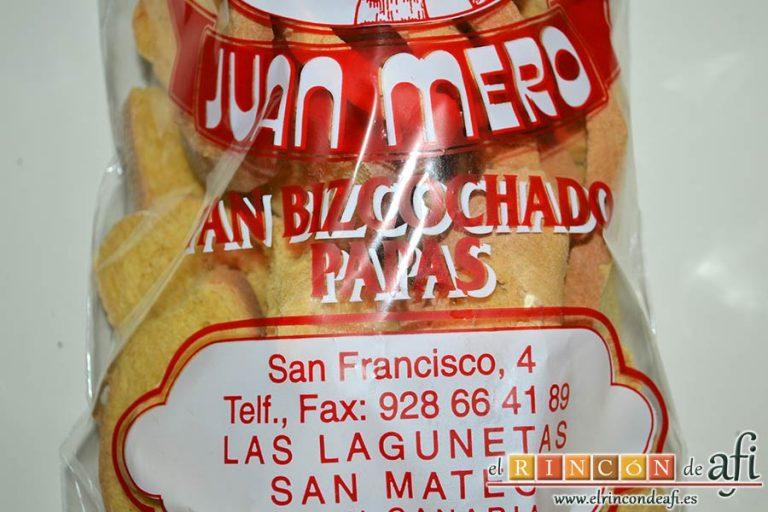 Tortitas de atún y papas, preparar el pan de papas bizcochado