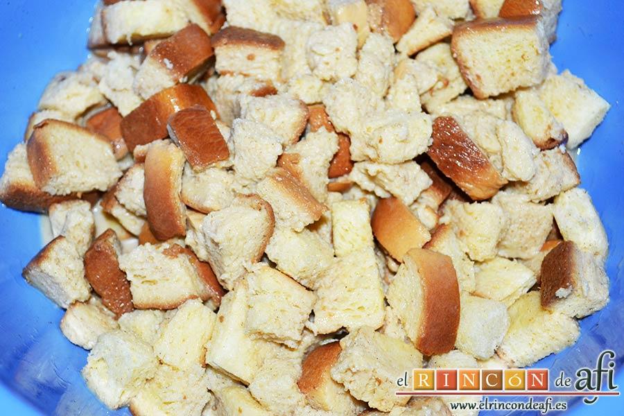 Tostadas francesas en taza, remover muy suavemente