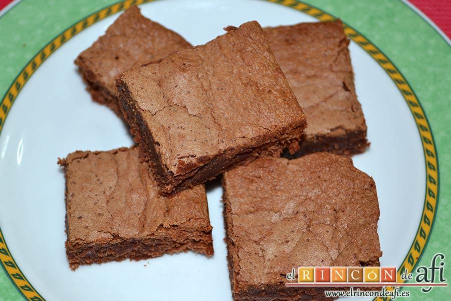 Brownie de Nutella, sugerencia de presentación