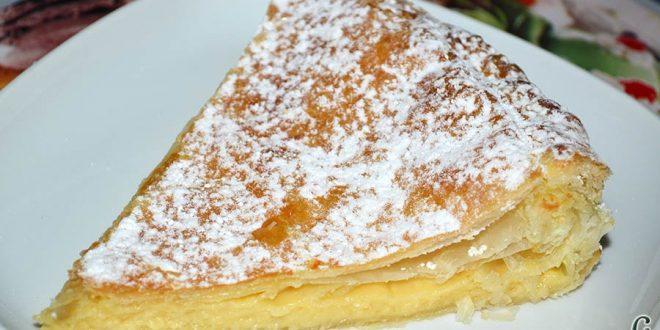 Empanada de crema pastelera o Bugatsa