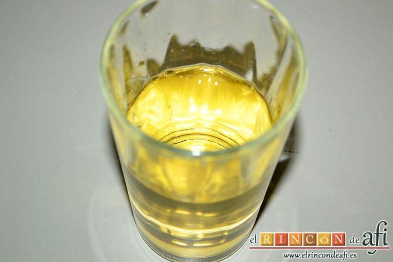 Gallegada, preparar el vino blanco
