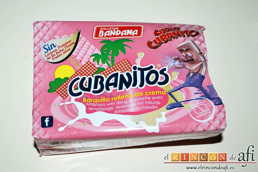 Mus de galletas cubanitos, preparar los cubanitos