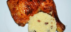 Pollo al horno con salsa de chile dulce y miel