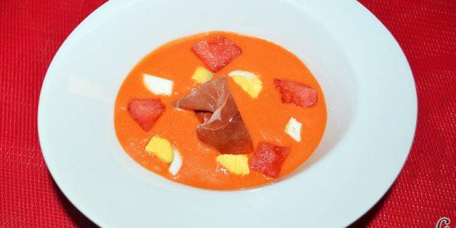 Salmorejo de sandía y tomate