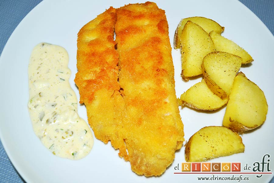 Filetes de corvina con costra de parmesano