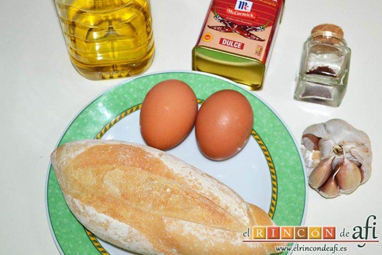 Sopa de espárragos verdes, preparar el resto de ingredientes