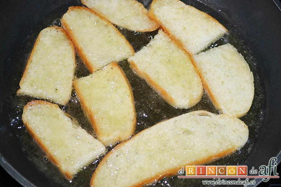 Sopa de espárragos verdes, freír hasta que esté doradito