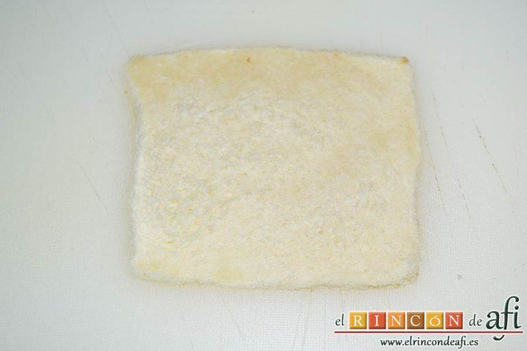 Enrolladitos de paté Mano de Hierro y pan de molde, preparamos el pan de molde