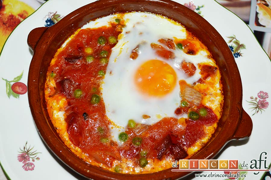 Huevos al plato, sugerencia de presentación