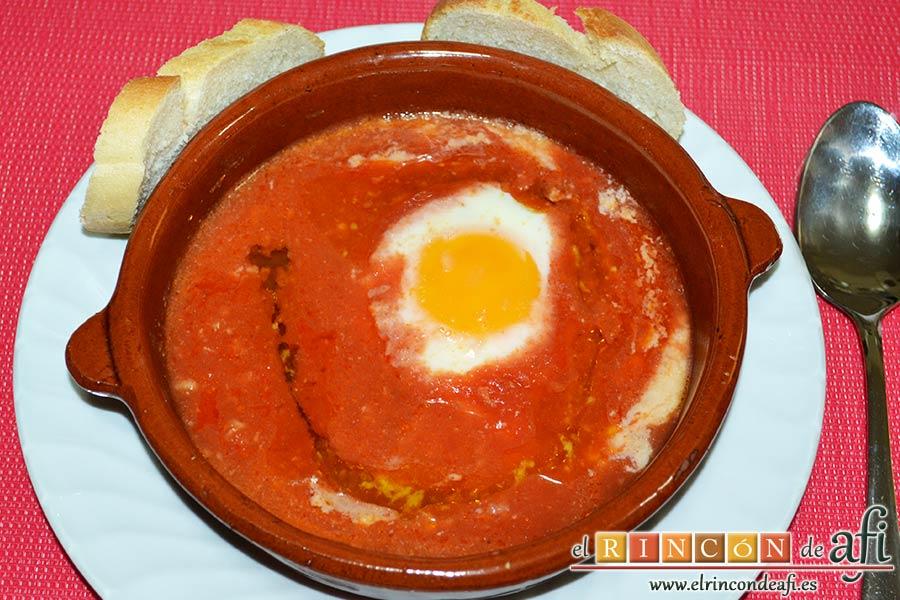 Huevos del purgatorio, sugerencia de presentación