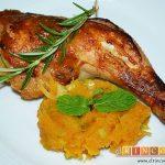 Pollo al horno con puré de batata o boniatos de Lorraine Pascale