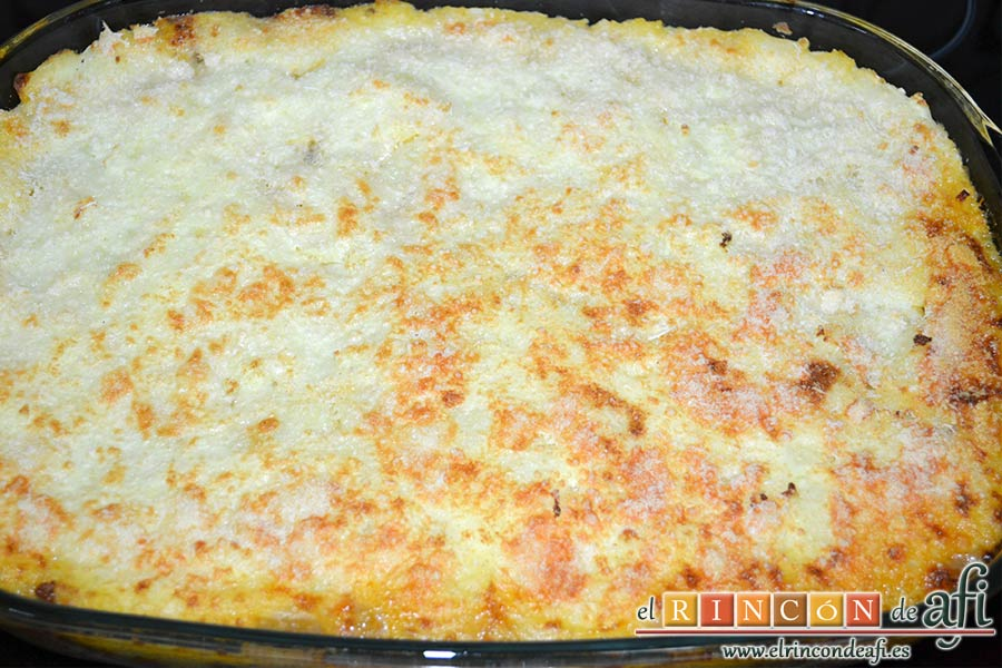 Cottage pie, sacar del horno