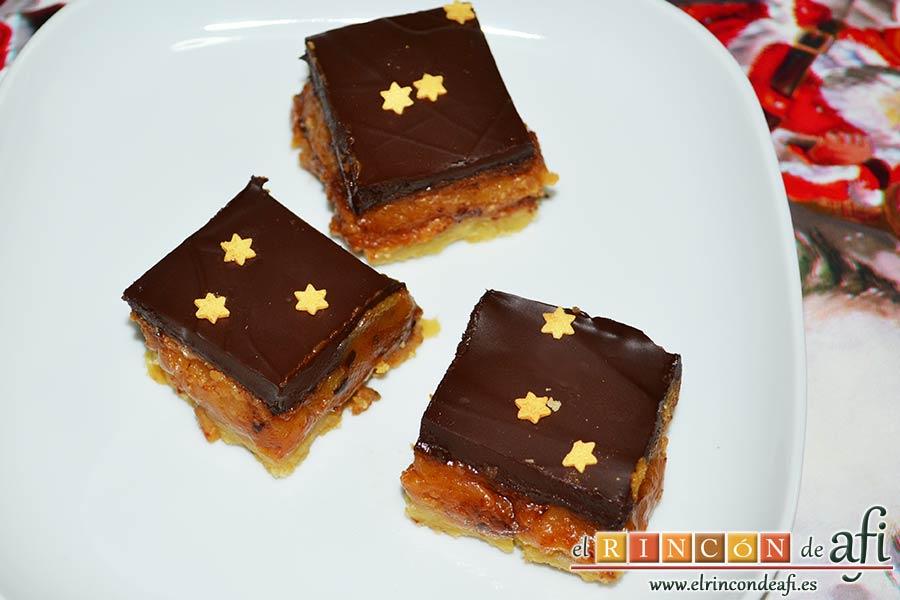 Delicias de Navidad con chocolate y caramelo