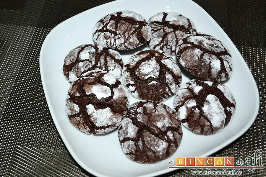 Galletas de Navidad de chocolate y avellanas, sugerencia de presentación