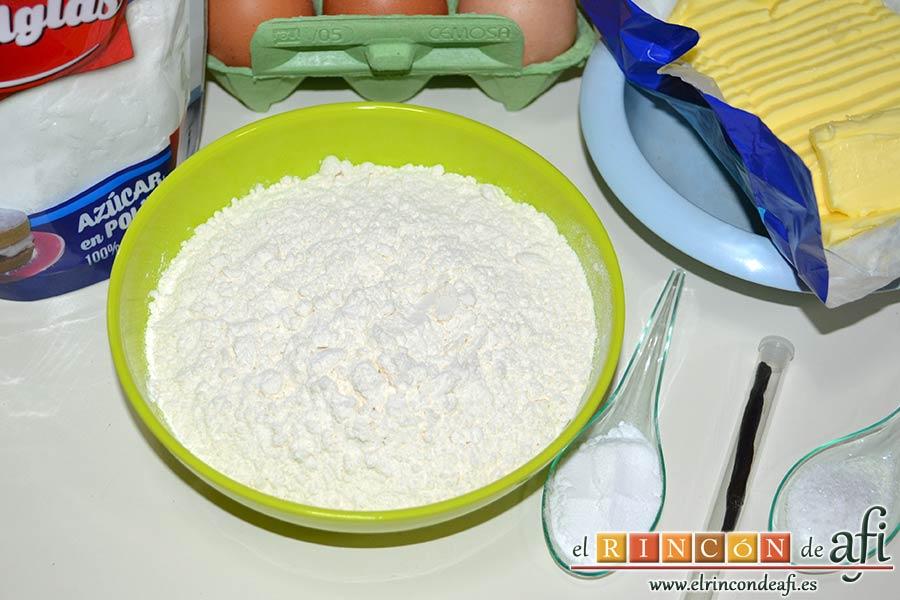 Minitartitas de fresa de Lorraine Pascale, preparar los ingredientes