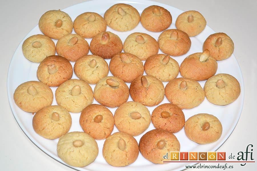 Pastitas de almendra, sugerencia de presentación