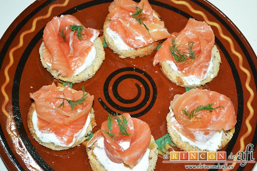 Rosas de salmón
