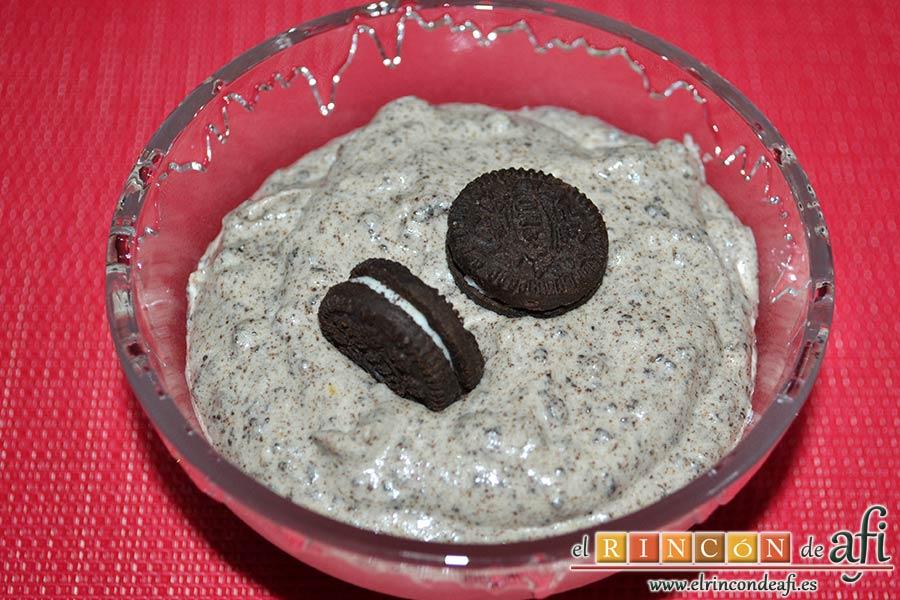 Mus de galletas Oreo, sugerencia de presentación
