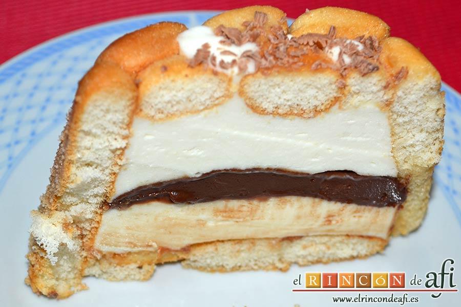 Pastel de soletillas, mascarpone y Nutella, sugerencia de presentación