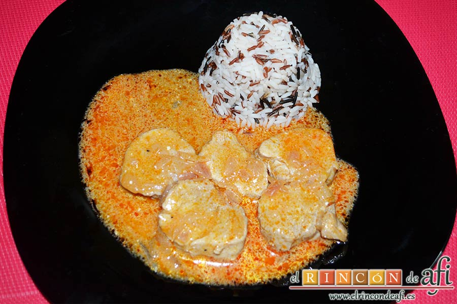 Solomillo de cerdo en salsa de paprika