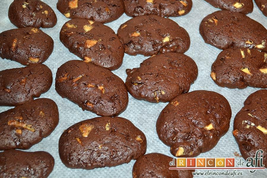 Cookies de chocolate de Ferran Adriá, hornear