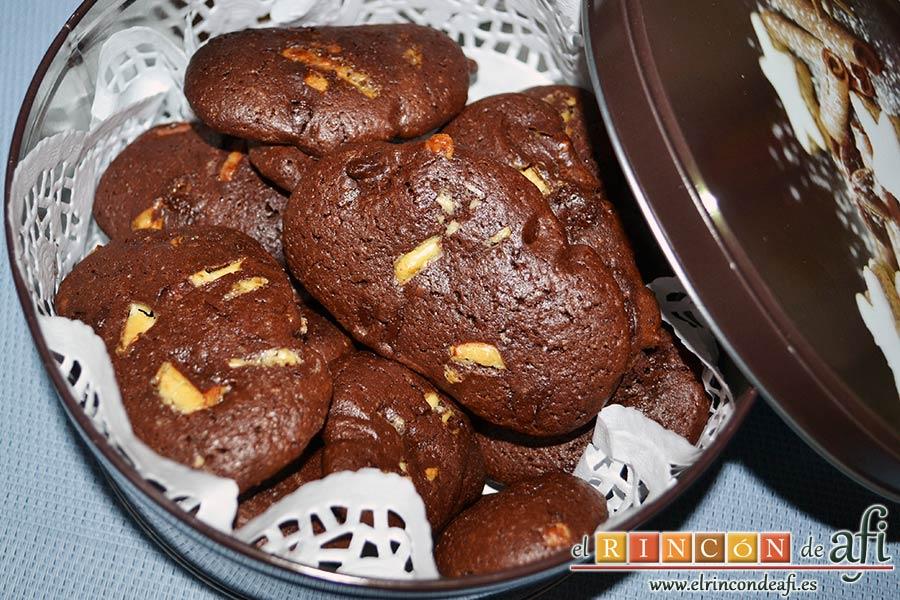 Cookies de chocolate de Ferran Adriá, sugerencia de presentación