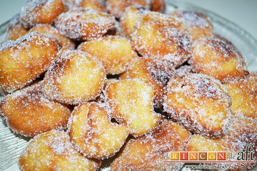 Buñuelos de naranja, sugerencia de presentación