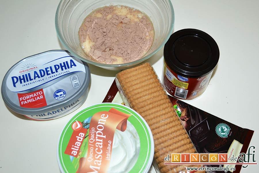 Chocotarta, preparar los ingredientes