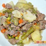 Guiso de carne con verduras
