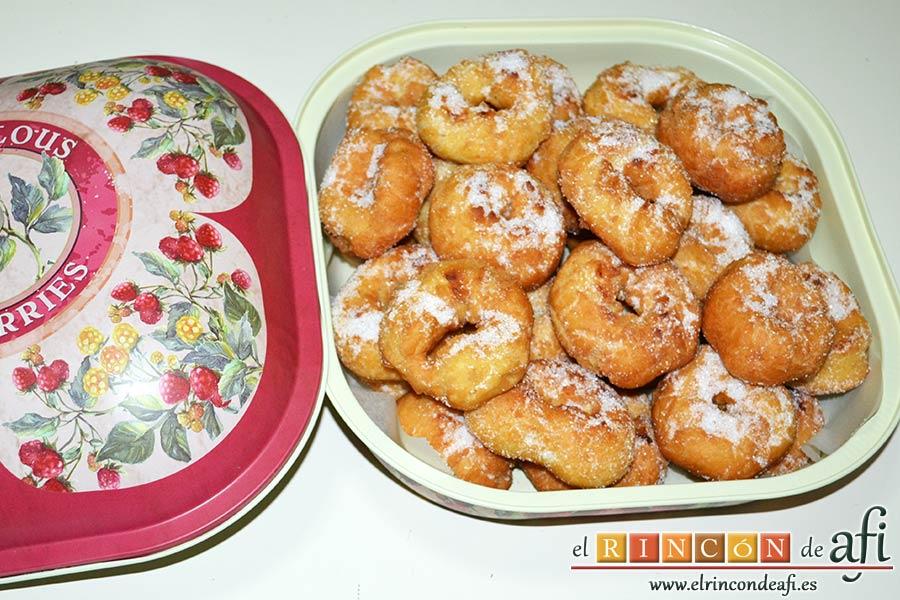 Rosquillas tradicionales, sugerencia de presentación