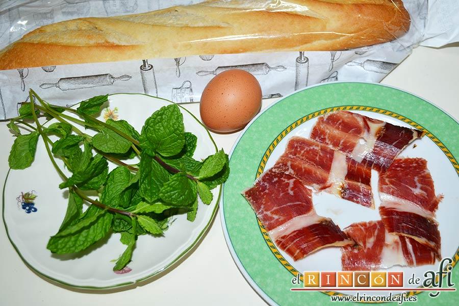 Sopa de hierbabuena, preparamos los ingredientes
