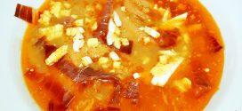 Sopa de pan con majada de almendras