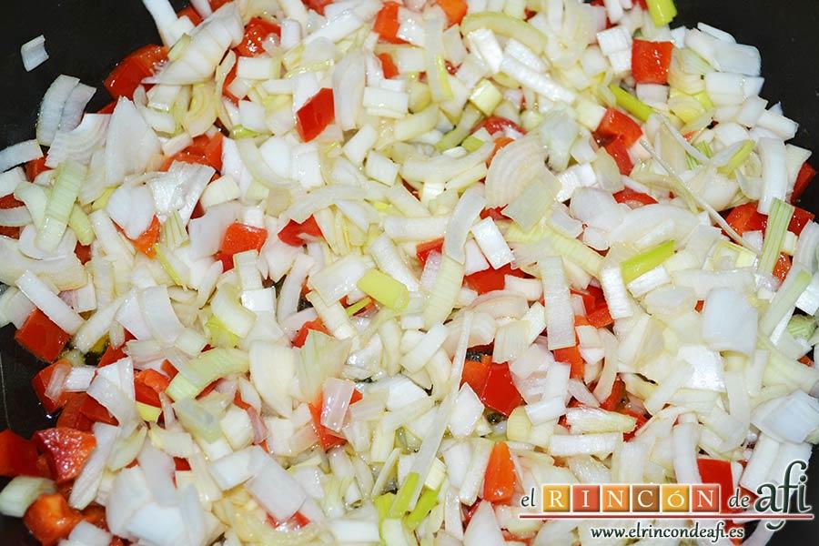 Plumcake de verduras, sofreír
