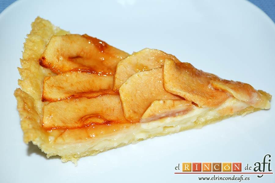 Tarta de manzana clásica, sugerencia de presentación
