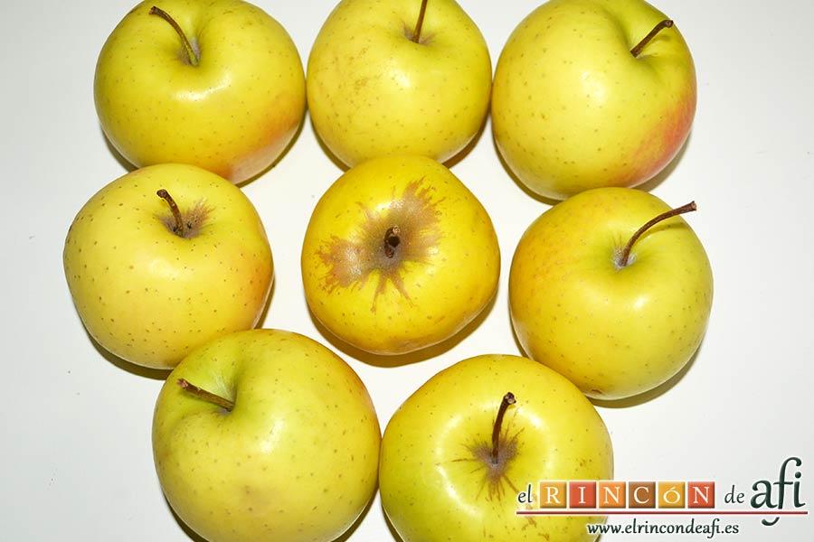 Tarta de manzana del Oso Yogui, coger ocho manzanas para el relleno